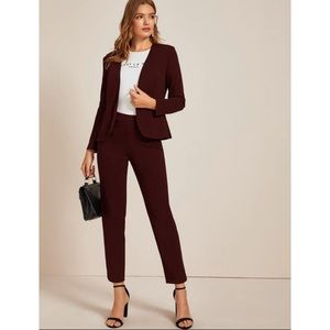 Burgundy Casual Suit